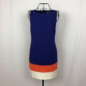 Trina Turk color block sleeveless sheath dress 0